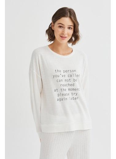 Penti Beyaz Don'T Call Me Sweatshirt Beyaz